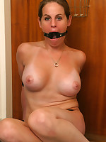 Busty amateur tied and gagged
