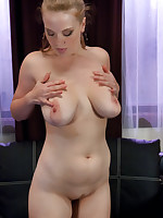 Curvy blonde test-drives several different fucking machines