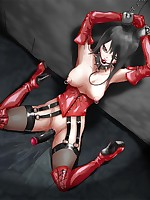 Perverted hentai fantasies of girls bound and ravished