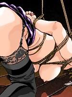 Gagged, helpless hentai girls