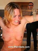 Brutal whipping of bad maid