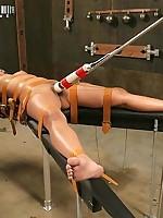 Fetish Helpless asian chick bondaged