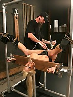 Whore with big tits in bondage
