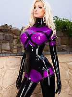 Shiny Purple Latex in Sun