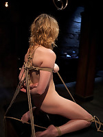 Slave Lilly was sprayed down, bound and drilled