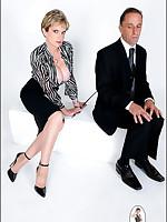 Sexy Mistress dominates businessman
