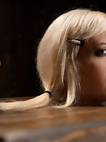 Sexy blond suffers throughout latex, caning, whipping, fire, orgasms, with an increment of nipple torture.