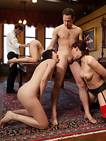 Porn star Chastity Lynn is humiliated with an increment of drilled by senior slaves