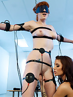 First time at Electrosluts, Audrey get an introduction that babe won't forget.