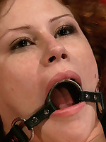 Sexy redhead Booklyn Lee is close by up suffer up greater amount electro lezdom DBSM!