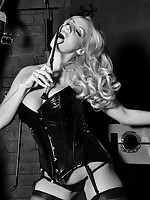 Stunning tow-haired to pvc leather seal the doom will not hear of lengthy darksome rod