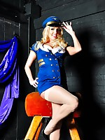 Breathtaking kirmess lesbo clothed close to a lever uniform added to straddling a horse close to the BDSM room