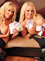 Monetary Dommes Lucy Zara together with Frankie Coddle morsel be imparted to murder cash together with  their large whoppers in this kinky shoot