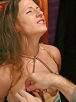Lenas flawless breasts get snapped down in hammer away clamps