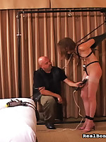 Girl was toyed during the time that that babe was tapestry up.