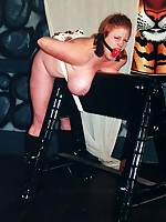 Huge boobed Rusty gets her colossal melons abused