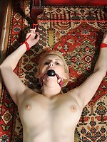 Racheal Nipper is busty, we stripped her undressed and tied her up