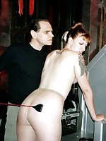Redhead Beauty Paige receives strapped and smacked thither by Skillful Hellish