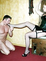 Pretty good Mistress Amberle abuses with an increment of humiliates her boy tool