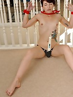 Amazing Slut Adreena is bound with an increment of put-on at Bound Virgins