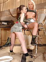 Outcast lesbo fisting wide hotties hot Johane & blonde Kathia