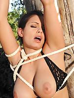 Aria Giovanni & Jelena Jensen having bondage lesbian sex