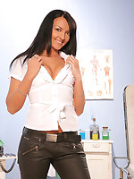 Spoilt Doctor Possibilities examines and probes Indira's tits and ass