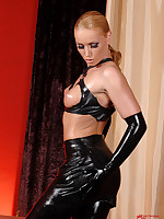 Kathia Nobili strict in latex