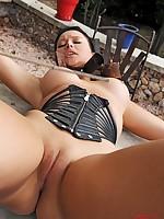 Anna Polina bound and caned
