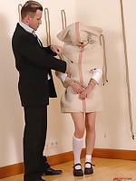 Bigmouth schoolgirl punished!