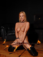 See hawt babe Dorothy Dark fire juggling hither taut latex