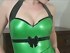 Latex babes tease the camera
