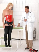 Adulterate Nick Lang spanks his gorgeous patient Kathia Nobili