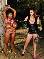 Maserati and her gargantuan juggs get fastened unconnected with Eva Notty