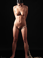 Nicolette fastened in an Japanese bondage bondage hauteur