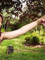 Beckykat between trees