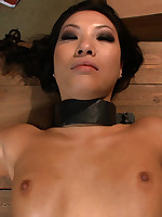 Asa gangbanged, creampied and left tied up in abandoned building.