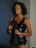 Ebony mistress humiliated malesub