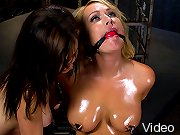 Beautiful MILF with big tits gets made to cum with an electric butt plug