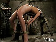 BDSM Movies Helpless cutie bondaged and