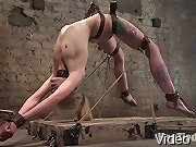 Blond gets tied up by a sadistic bitch, made to scream and cum.