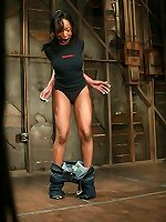 BDSM Exotic beauty bondaged and