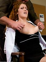 Sexual BDSM Excited redhead in bondage act and smutbdsm.com