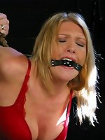 BDSM Hot blonde fucked in bondage and bdsmlimit.com