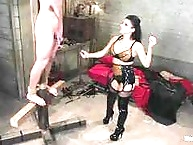 Insatiable vamp uses and abuses her basement villein for..