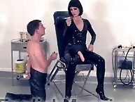 Smoking Hot Strapon With Latex Mistress