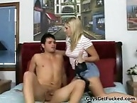 Dominant blonde seduced her BF
