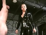 Latx goddess wipping slave man for pleasure