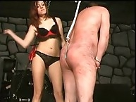 Jennifer hooked her slave with anal hook