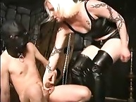 Watch-her pleasure kicking gives pain